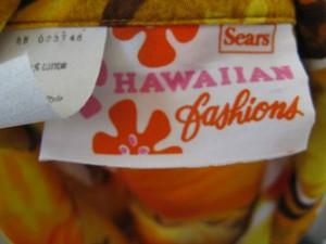 Sears Hawaiian Fashion Label