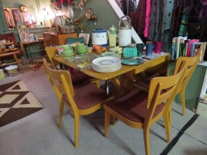 Heywood Wakefield table and chairs, still available!