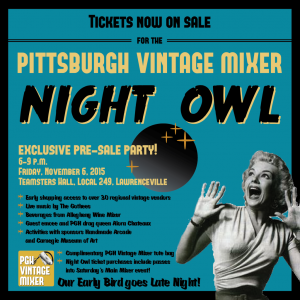 Hoot hoot - Pgh Vintage Mixer Night Owl!